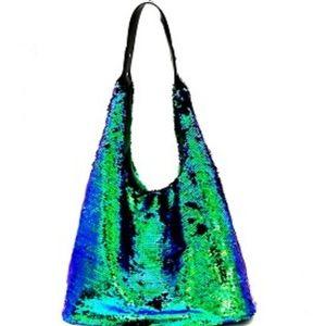 Handbags - All-Over Bling Sequin Hobo Handbag!